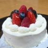 苺ショートのクリスマスケーキ